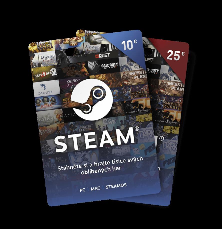 Dárkové poukazy Steam