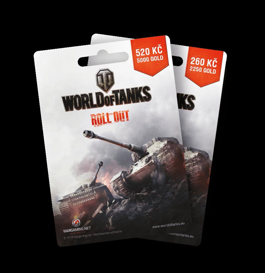 Dárkové poukazy World of Tanks