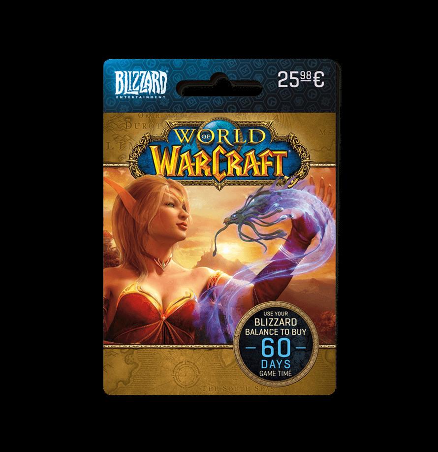 Dárkové poukazy World of Warcraft game time