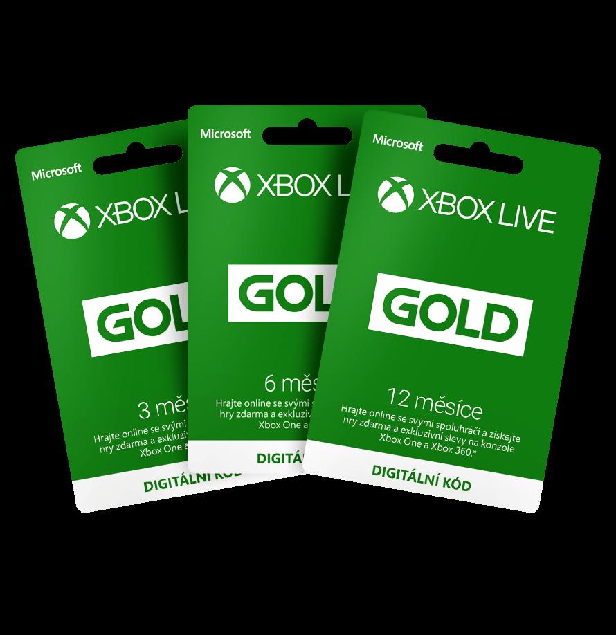 Dárkové poukazy Xbox Live Gold